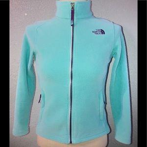 "The North Face Girls Fleece Jacket ""Tiffany Blue """